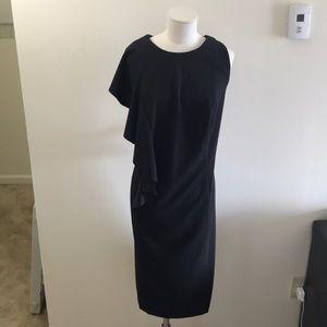 London Times Black Side ruffle dress size 18w
